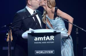 amfAR 2014 : Entre Vito et Harvey, la coquine Heidi Klum reine des baisers !