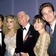 Shannen Doherty, Jason Priestley, Luke Perry avec Aaron Spelling et Tori Spelling à Los Angeles.