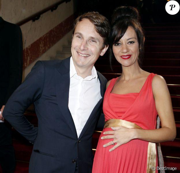 Lorànt Deutsch et sa femme Marie-Julie Baup enceinte - 39e cérémonie des César au théâtre du Châtelet à Paris, le 28 février 2014.