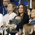 Nagore, la femme de Xabi Alonso, fête la victoire en Ligue des champions au stade Santiago Bernabeu à Madrid le 25 mai 2014.