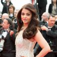 "Aishwarya Rai - Montée des marches du film ""The Search"" lors du 67e Festival du film de Cannes le 21 mai 2014."