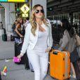 Khloe Kardashian de retour à New York après le mariage de sa soeur Kim, le 26 mai 2014.