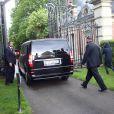 Arrivée de Kim Kardashian, Kanye West et leurs invités au château de Wideville, propriété de Valentino, près de Davron ( 25 km de Paris) où doit avoir lieu la fête - le 23 mai 2014