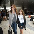 Cindy Crawford et sa fille Kaia Jordan arrivent à l'aéroport de LAX à Los Angeles, en provenance de Paris. Le 24 mai 2014.