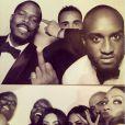 Tracey Mills, Jerry Lorenzo, Virgil Abloh, Kanye West, Kim Kardashian, Carla DiBello, La La Anthony et Jonathan Cheban lors de la fête de mariage de Kim Kardashian et Kanye West. Florence, le 24 mai 2014.