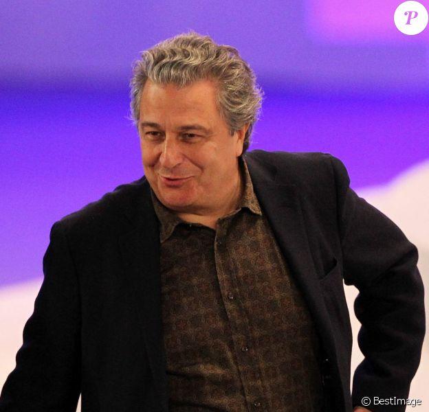 Christian Clavier lors du meeting de Nicolas Sarkozy le 11 mars 2012 à Villepinte