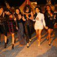Kim Kardashian a enterré sa vie de jeune fille avec se soeurs Khloé et Kylie Jenner et ses amies à Paris. Le 22 mai 2014.