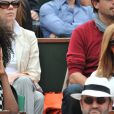 Zahia Dehar au tournoi de Roland-Garros à Paris, le 1er juin 2014.