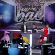 """Tournage de """"Les people passent le bac"""", mardi 3 juin 2014 sur NRJ12."""