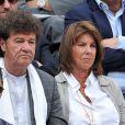 Robert Charlebois et sa femme Laurence à Roland-Garros à Paris, le 3 juin 2014.