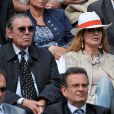 Cyrielle Clair et son mari Michel Corbiere à Roland-Garros à Paris, le 3 juin 2014.