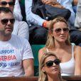 Jelena Ristic (compagne de Novak Djokovic) à Roland-Garros à Paris, le 3 juin 2014.