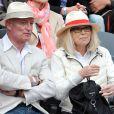 Mireille Darc et son mari Pascal Desprez à Roland-Garros à Paris, le 3 juin 2014.