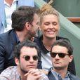 Clovis Cornillac et sa femme Lilou Fogli à Roland-Garros à Paris, le 3 juin 2014.