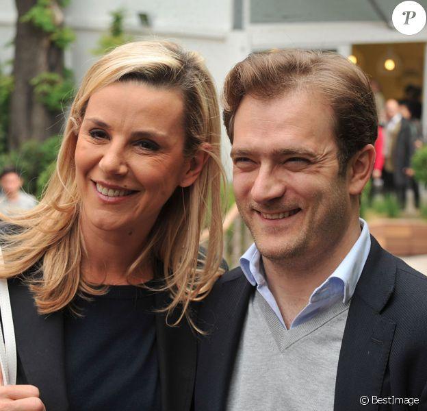 Laurence Ferrari et son mari Renaud Capuçon au village Roland-Garros à Paris, le 3 juin 2014.