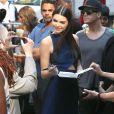 Kendall Jenner se rend sur le plateau de l'émission Good Morning America. New York, le 3 juin 2014.