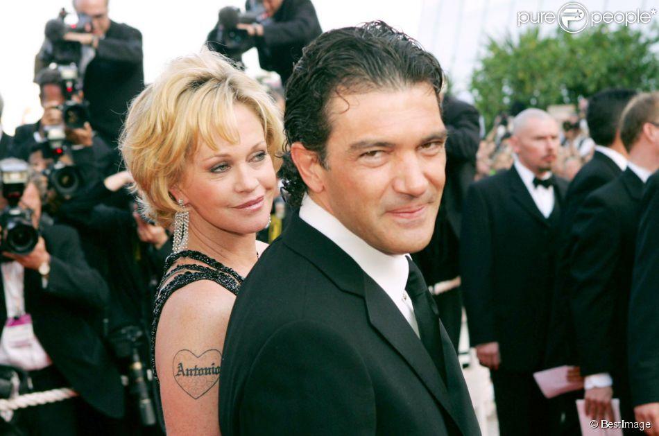 Antonio Banderas et Melanie Griffith à Cannes en mai 2004.