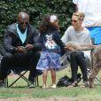 Une famille unie ! Heidi Klum et Seal emmènent leurs enfants à un match de football à Brentwood. Le 7 juin 2014