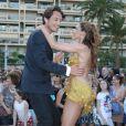"""Vincent Cerutti, Silvia Notargiacomo - L'équipe de TF1 de """"Danse avec les Stars"""" donne un show lors du 54e Festival de Télévision de Monte-Carlo, le 8 juin 2014."""