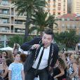 """Chris Marques - L'équipe de TF1 de """"Danse avec les Stars"""" donne un show lors du 54ème Festival de Télévision de Monte-Carlo, le 8 juin 2014."""