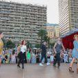 """Silvia Notargiacomo, Jaclyn Spencer, Chris Marques, Yann-Alrick, Fauve Hautot - L'équipe de TF1 de """"Danse avec les Stars"""" donne un show lors du 54e Festival de Télévision de Monte-Carlo, le 8 juin 2014."""