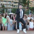 """Chris Marques - L'équipe de TF1 de """"Danse avec les Stars"""" donne un show lors du 54e Festival de Télévision de Monte-Carlo, le 8 juin 2014."""