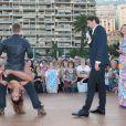 """Yann-Alrick, Silvia Notargiacomo, Vincent Cerutti, Sandrine Quétier - L'équipe de TF1 de """"Danse avec les Stars"""" donne un show lors du 54e Festival de Télévision de Monte-Carlo, le 8 juin 2014."""