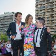 """Vincent Cerutti, Sandrine Quétier, Chris Marques - L'équipe de TF1 de """"Danse avec les Stars"""" donne un show lors du 54e Festival de Télévision de Monte-Carlo, le 8 juin 2014."""