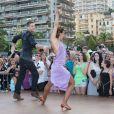 """Yann-Alrick, Silvia Notargiacomo - L'équipe de TF1 de """"Danse avec les Stars"""" donne un show lors du 54e Festival de Télévision de Monte-Carlo, le 8 juin 2014."""