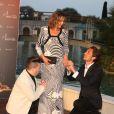 Sandrine Quétier, Chris Marques, Vincent Cerutti - Soirée au Monte-Carlo Bay lors du 54e Festival de Télévision de Monte-Carlo, le 8 juin 2014.