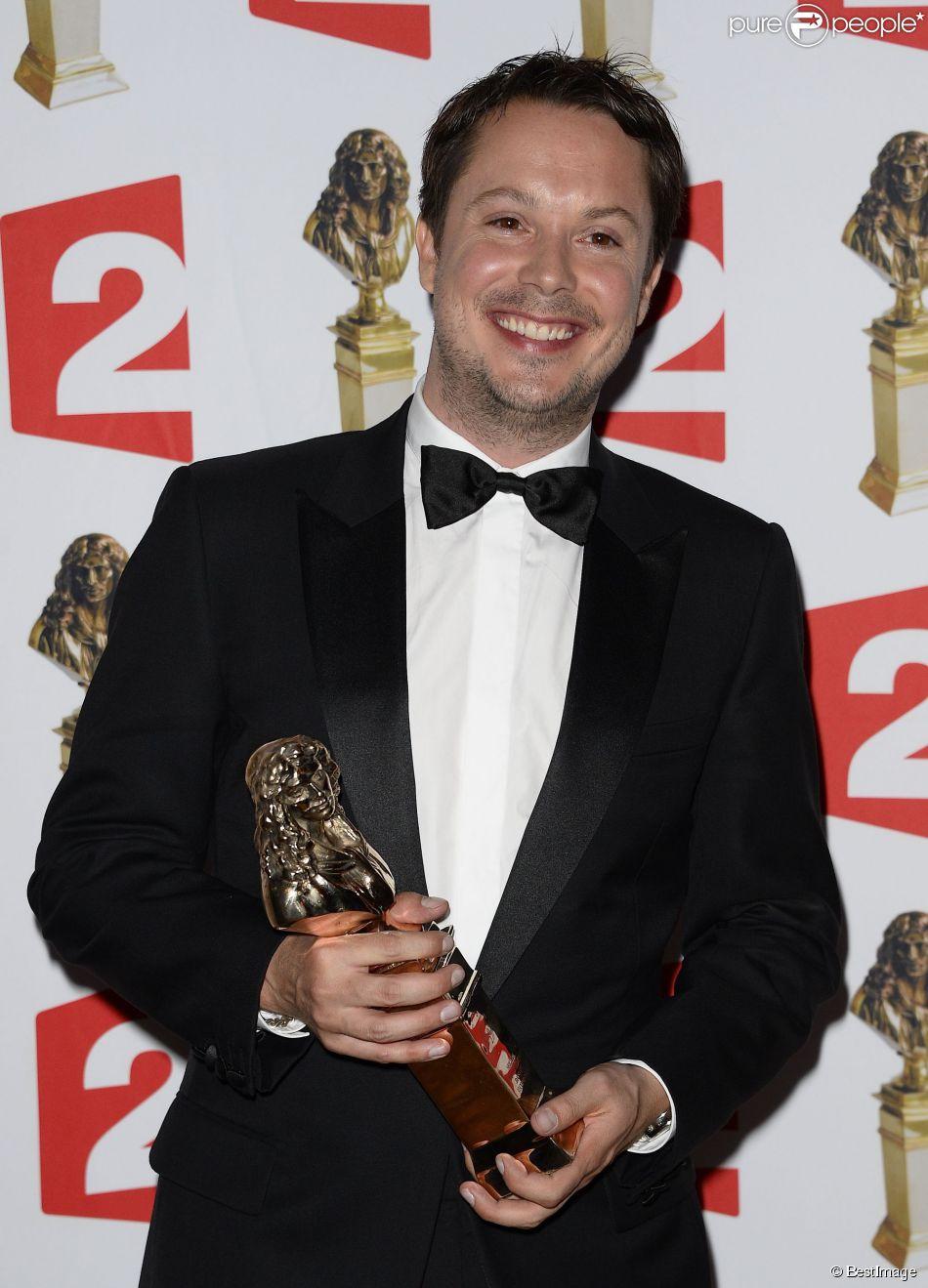 Davy Sardou récompensé lors de la 26e cérémonie des Molières, le 2 juin 2014.