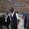 Mario Balotelli lors de son arrivée au tribunal de Brescia où il tente d'obtenir la garde de sa fille, le 19 mai 2014