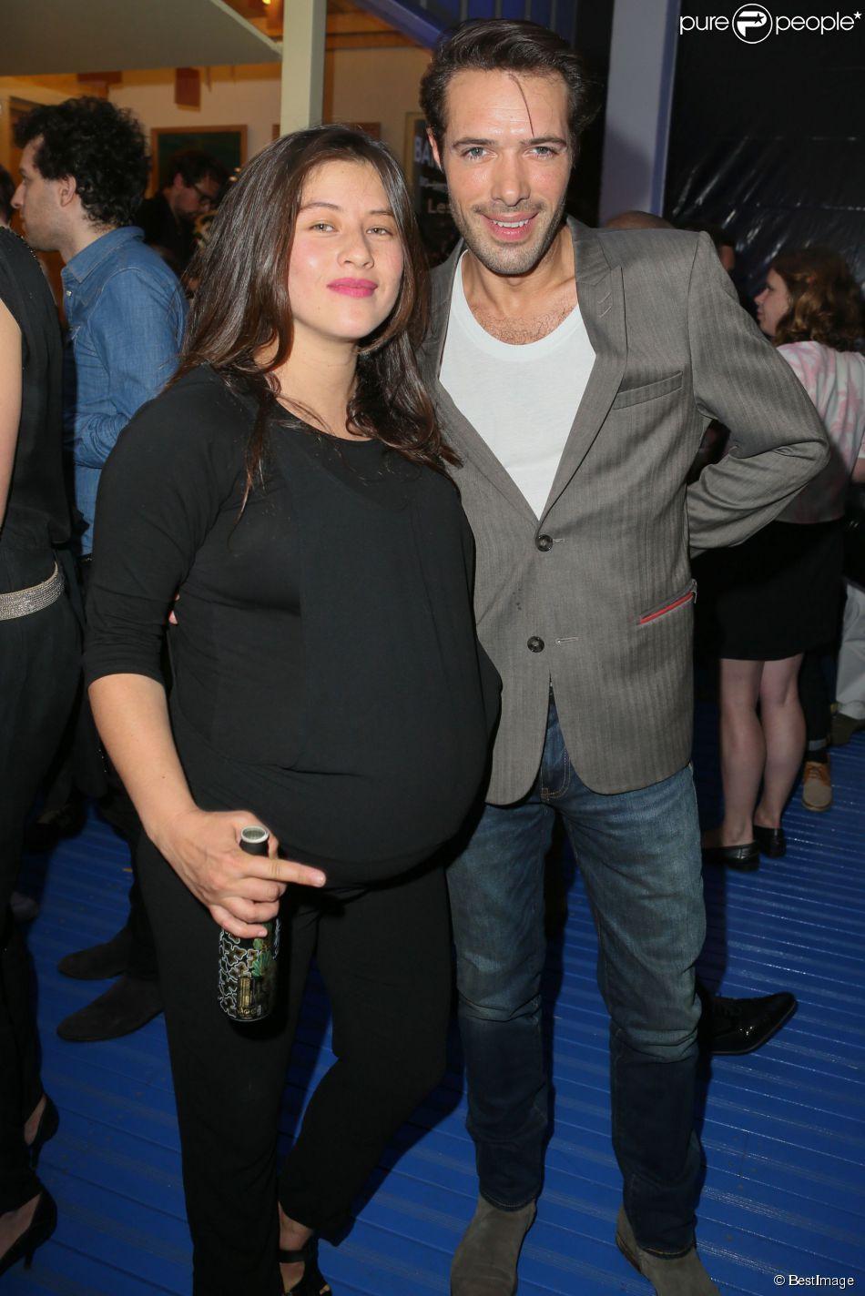 Mylène Jampanoï enceinte, Nicolas Bedos - Opening party du BHV Marais section homme au BHV Marais à Paris, le 11 juin 2014.