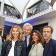 Alexandra Golovanoff, Philippe Houzé (Président du Directoire du Groupe Galeries Lafayette), Mademoiselle Agnès et Guillaume Houzé (fils de Philippe Houzé) - Opening party du BHV Marais section homme au BHV Marais à Paris, le 11 juin 2014.