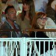 Bruce Springsteen et sa femme Patti Scialfa dans les tribunes du Stade des Hespérides le 12 juin 2014, au premier soir du Jumping international de Cannes, encourageant leur fille Jessica Springsteen. Hélas, la jeune cavalière de 21 ans n'a pas joué les premiers rôles.