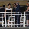 """Kate Winslet et son mari Ned Rocknroll assistent au 165e """"Prix de Diane Longines"""" à l'hippodrome de Chantilly le 15 juin 2014."""
