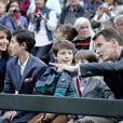 La princesse Marie, le prince Nikolai, le prince Felix, le prince Henrik et le prince Joachim de Danemark lors de la première du ballet The Steadfast Tin Soldier à Tivoli, Copenhague, le 16 juin 2014. Un spectacle auquel la reine Margrethe II de Danemark a collaboré.