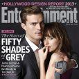 Jamie Dornan et Dakota Johnson font la couverture d'Entertainment Weekly pour Fifty Shades of Grey.