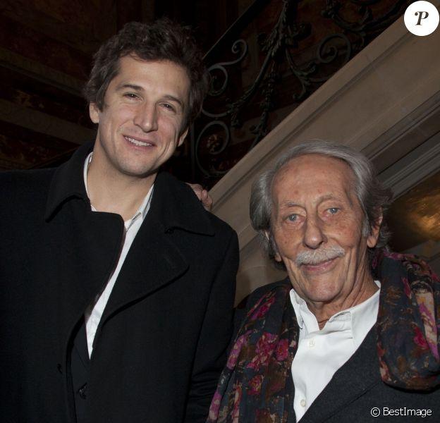 Jean Rochefort et Guillaume Canet - Conférence de presse des Gucci Masters 2013 aux Salons France Amériques à Paris le 18 novembre 2013