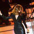 Celine Dion sur la scène du Colosseum du Caesars Palace de Las Vegas, le 15 mars 2011.