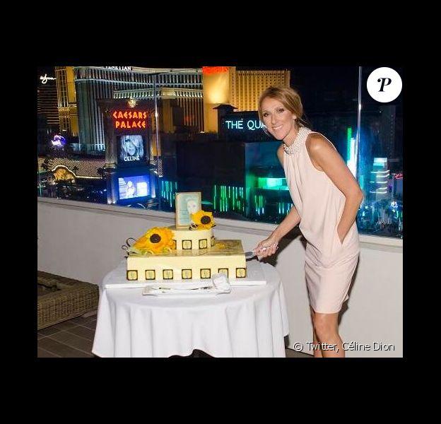 Céline Dion a fêté la 200e représentation de sa seconde residence à Las Vegas. Le 17 juin 2014.