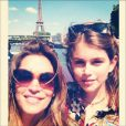 Cindy Crawford et sa fille Kaia à Paris. Photo postée le 19 mai 2014.