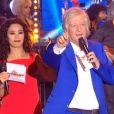 Patrick Sébastien et Aïda Touihri présentent la Fête de la Musique sur France 2, le samedi 21 juin 2014.