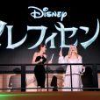 """Elle Fanning et Angelina Jolie lors de la première du film Maléfique (""""Maleficent"""") à Tokyo, le 23 juin 2014."""