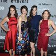 """Amy Brenneman, Margaret Qualley, Liv Tyler et Carrie Coon lors de la présentation de la série HBO """"The Leftovers"""" à New York le 23 juin 2014"""