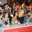 """La sexy Ayem Nour, jurée du concours """"Seminaked Contest"""" de Desigual. A Paris, dans la boutique Desigual située au numéro 9 du boulevard des Capucines. Le 25 juin 2014."""