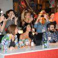 """Ayem Nour, jurée du concours """"Seminaked Contest"""" de Desigual. A Paris, dans la boutique Desigual située au numéro 9 du boulevard des Capucines. Le 25 juin 2014."""