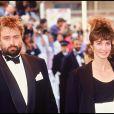 Anne Parillaud et Luc Besson lors du Festival de Cannes 1990