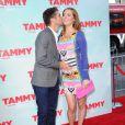 Kyle Martino et sa femme enceinte Eva Amurri Martino à la première de Tammy au TCL Chinese Theatre à Los Angeles, le 30 juin 2014.