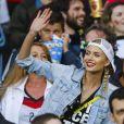 Lena Gercke, la compagne de Sami Khedira, lors du match Allemagne-Algérie à Porto Alegre (Brésil) le 30 juin 2014.